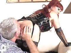 Dirty, Femdom, Fetish, Foot Fetish, Leather, Licking, Nylon, Pornstar, Sexy Vanessa, Stockings,