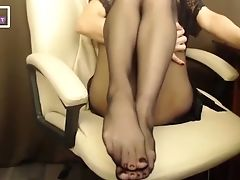 Babe, Black, Foot Fetish, Horny, Naughty, Pantyhose, Teasing,