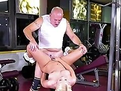 Ass Fucking, Blonde, Blowjob, Boobless, From Behind, Gym, Handjob, HD, Old, Oral Sex,