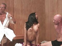 Big Tits, Blowjob, Brunette, Cum In Mouth, Cumshot, Fake Tits, Hardcore, HD, MILF, Moaning,