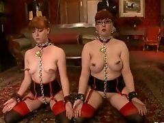 BDSM, Chained, Fetish, Group Sex, Lilla Katt, Nerine Mechanique,
