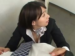 Babe, Clothed Sex, Couple, Dick, Ethnic, Hana Haruna, Handjob, Hardcore, Japanese, Miniskirt,