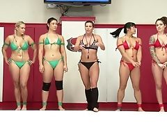 Bikini, Catfight, Friend, Karmen Karma, Lesbian, Sex Toys, Strapon,