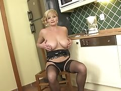 Amateur, Big Tits, Blonde, Exhibitionist, Kitchen, Mature, MILF, Model, Natural Tits, Nylon,