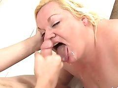 BBW, Blonde, Blowjob, Bold, Chubby, Cumshot, Fat, Handjob, Hardcore, Mature,
