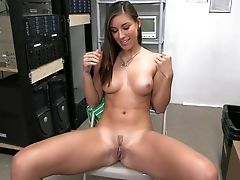Amateur, American, Audition, Babe, Beauty, Brunette, Cute, Desk, Gorgeous, Hardcore,