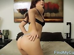 Ass, Babe, Bra, Cute, Jerking, Long Hair, Model, Natural Tits, Panties, Sexy,