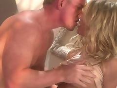 Big Tits, Blonde, Blowjob, Classroom, Couple, Dick, Fake Tits, Handjob, Hardcore, Long Hair,