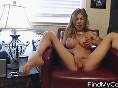Babe, Clit, Fake Tits, Horny, Juicy, Long Hair, Masturbation, Model, Pussy, Solo,