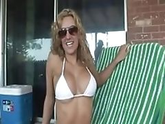 Big Tits, Blonde, Outdoor, Softcore, Solo, Teasing,