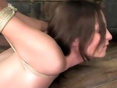 Amber Rayne, Babe, BDSM, Bound, Face Fucking,