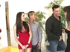 Annie Cruz, Sexo Grupal, Intenso, Kortney Kane, Orgy, Swinger,