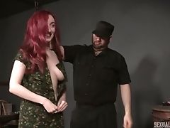 BDSM, Bondage, Cumshot, Fetish, Redhead, Slut, Submissive, Tied,
