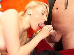 Amateur, Blonde, Blowjob, Boobless, Cum On Tits, Cumshot, Doggystyle, Facial, Game, HD,