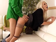 Blonde, Clothed Sex, Couch, Dick, From Behind, Hardcore, Holly Price, MILF, Old, Pornstar,