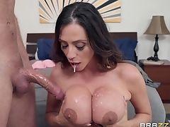 Ariella Ferrera, Big Cock, Big Tits, Blowjob, Bra, Captive, Couple, Cowgirl, Cum, Cum On Tits,