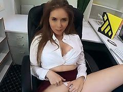 Beauty, Big Tits, Blowjob, Cowgirl, Cumshot, Cute, Desk, Facial, Fucking, Handjob,