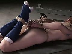BDSM, Bondage, Cute, Flexible, Hogtied, Nymphomaniac, Rough, Violet Monroe,