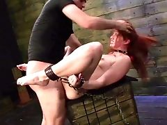 Blowjob, Brutal, Chained, Deepthroat, Doggystyle, Domination, Helpless, Maledom, Pussy, Redhead,