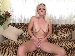 Big Tits, Blonde, Bra, Dildo, Fingering, Kathy Anderson, Long Hair, Masturbation, MILF, Model,