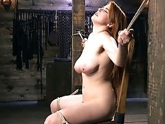 BDSM, Beauty, Bondage, HD, Masturbation, Penny Pax, Redhead, Rough,