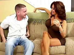 Brunette, Couch, Hardcore, Housewife, MILF, Mom, Old, Tanned, Tara Holiday, Young,