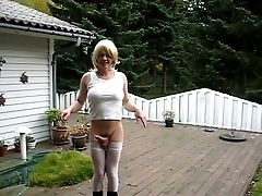 Dick, Garden, Ladyboy, Rough, Tranny,