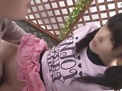 Couple, Cunnilingus, Japanese, Jav, Model, Outdoor, Stockings,