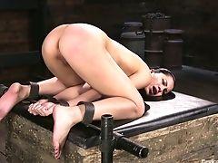 Ass, BDSM, Big Tits, Bold, Bondage, Brunette, Cassandra, Fingering, HD, Moaning,