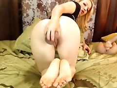 Anal Sex, Boobless, Foot Fetish, Masturbation, Sex Toys, Solo, Webcam,