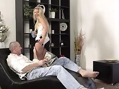 Blonde, Boobless, Clit, Couple, Long Hair, Old, Trimmed,