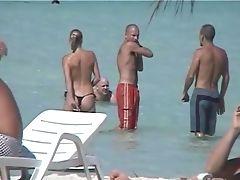 Beach, Flashing, Nudist, Slut, Swimming, Topless,