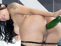 Ass, Latina, Masturbation, Shemale, Tranny, Vegetables,
