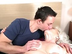 Blonde, Granny, Hairy, Old, Old And Young, Oral Sex, Pussy, Young,