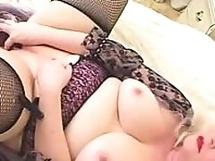 BBW, Blonde, Fat, Interracial, Piercing, Sex Toys, Threesome,