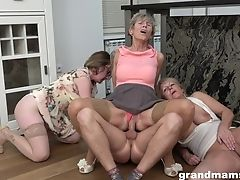 Granny, Horny, Kitchen, Mature, Young,