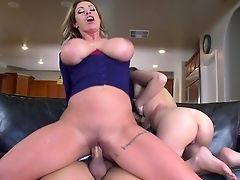 Big Tits, Blowjob, Couch, Doggystyle, Eva Notty, Fake Tits, FFM, Hardcore, HD, Homemade,