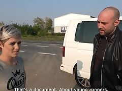 Big Cock, Car, Hitchhiker, Homemade, Outdoor, Reality, Short Haired,