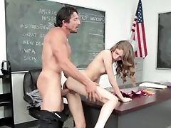 Blowjob, Classroom, College, Experienced, Facial, Hardcore, Mature, Natural Tits, Skinny, Teacher,