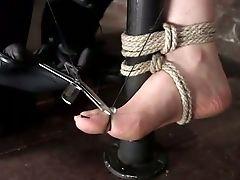 BDSM, Bondage, Clit, Jerking, Legs, Nipples, Sex Toys, Squirting, Torture, Vibrator,