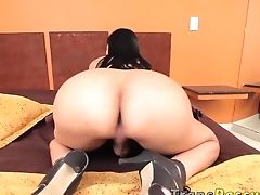 Anna Bella, Bedroom, HD, Latina, Masturbation, Shemale, Solo, Tranny,