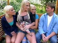 American, Big Tits, Blonde, Group Sex, Lexi Swallow, MILF, Nadia Hilton, Orgy, Park, Pornstar,