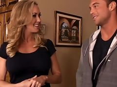 Blonde, Blowjob, Brandi Love, Couch, Housewife, Mature, MILF, Mom, Old, Son,