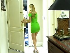 American, Blonde, Cheating, Couch, Dress, Housewife, Lexi Belle, Oral Sex, Pornstar, Story,