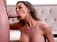 Big Tits, Blowjob, Couch, Cowgirl, Cumshot, Curly, Dick, Doggystyle, Fake Tits, Femdom,