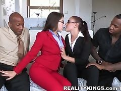 Anal Sex, Big Ass, Big Cock, Blowjob, Facial, Group Sex, HD, Horny, Interracial, Mischa Brooks,