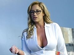 Big Tits, Blonde, Blowjob, Cowgirl, Doggystyle, Eva Notty, Glasses, Hardcore, MILF, Missionary,
