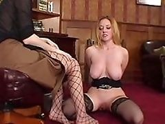 BDSM, Classroom, Femdom, Fishnet, Foot Fetish, HD, Lesbian, Lezdom, Natural Tits, Office,