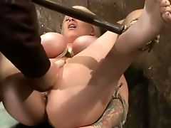 BDSM, Blonde, Bound, Candy Manson, Huge Tits, Screaming, Spreading, Squirting,