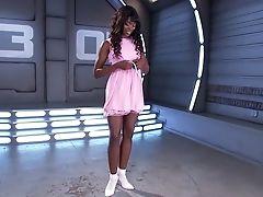 Ana Foxxx, Black, Dress, Horny, Jerking, Legs, Masturbation, Pussy, Sex Toys, Solo,